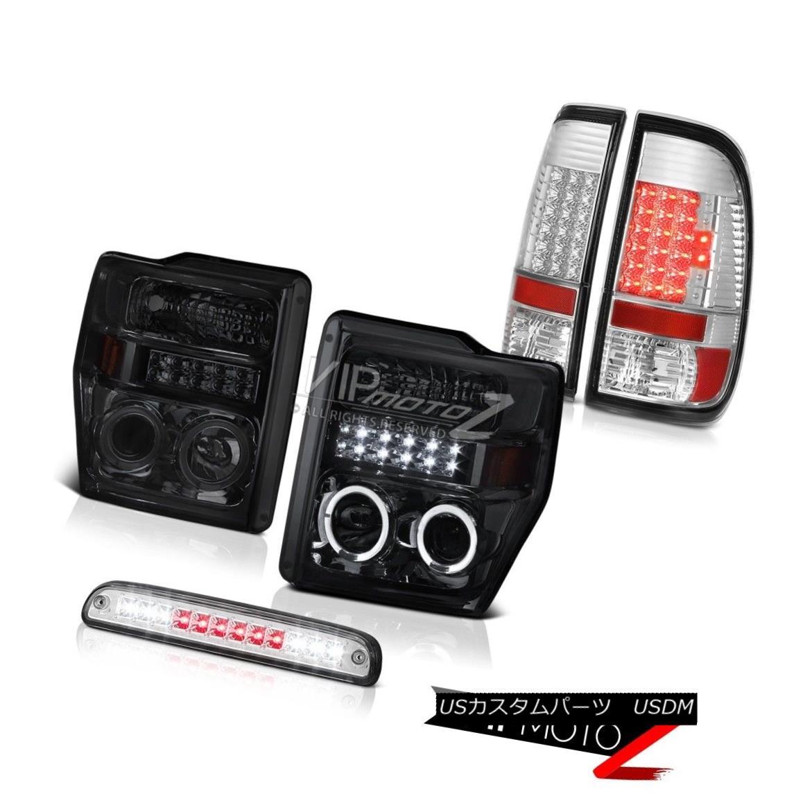 F350ヘッドライトプロジェクターエンジェルアイブレーキ Stop Projector Chrome Brake LED 08-10 Ford 08-10 Headlights Angel ヘッドライト F350 Eye Ford Taillights