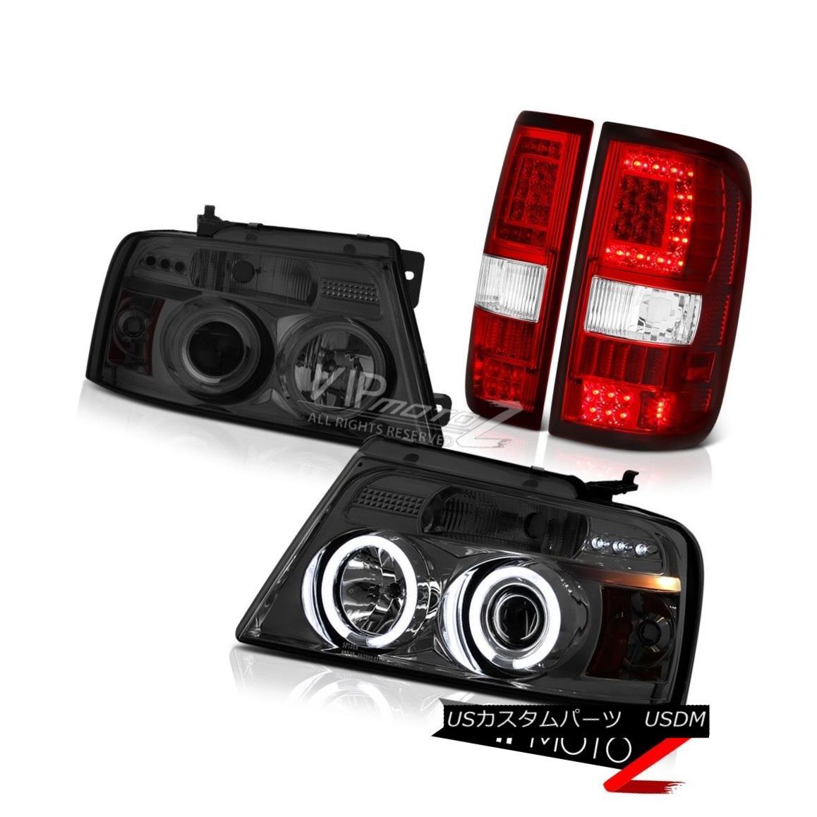 Tail 07 ヘッドライト Neon 05 08 Tube Wine 05 07 F150 04 Head Red F-150 04 Smoke Ford 06 F-150ワインレッドネオンチューブテールランプチタンスモークヘッド Titanium Lamps 06 08フォードF150