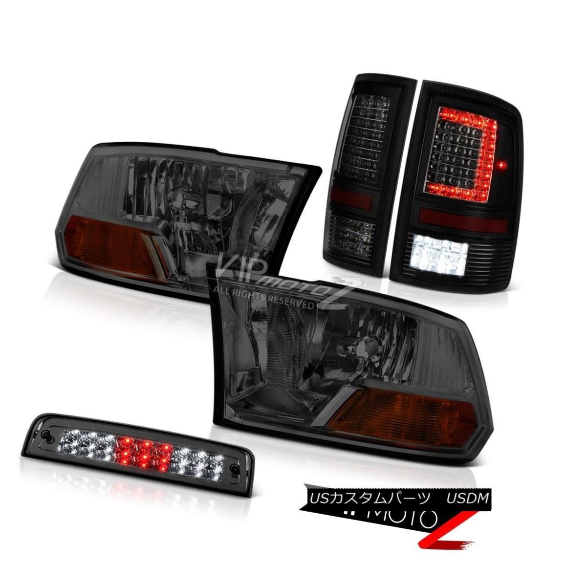 ヘッドライト 2009-2017 Dodge RAM 1500 3500 Tail Lamp 3rd Brake Light Factory Style Head SET 2009-2017 Dodge RAM 1500 3500テールランプ第3ブレーキライト工場スタイルヘッドセット