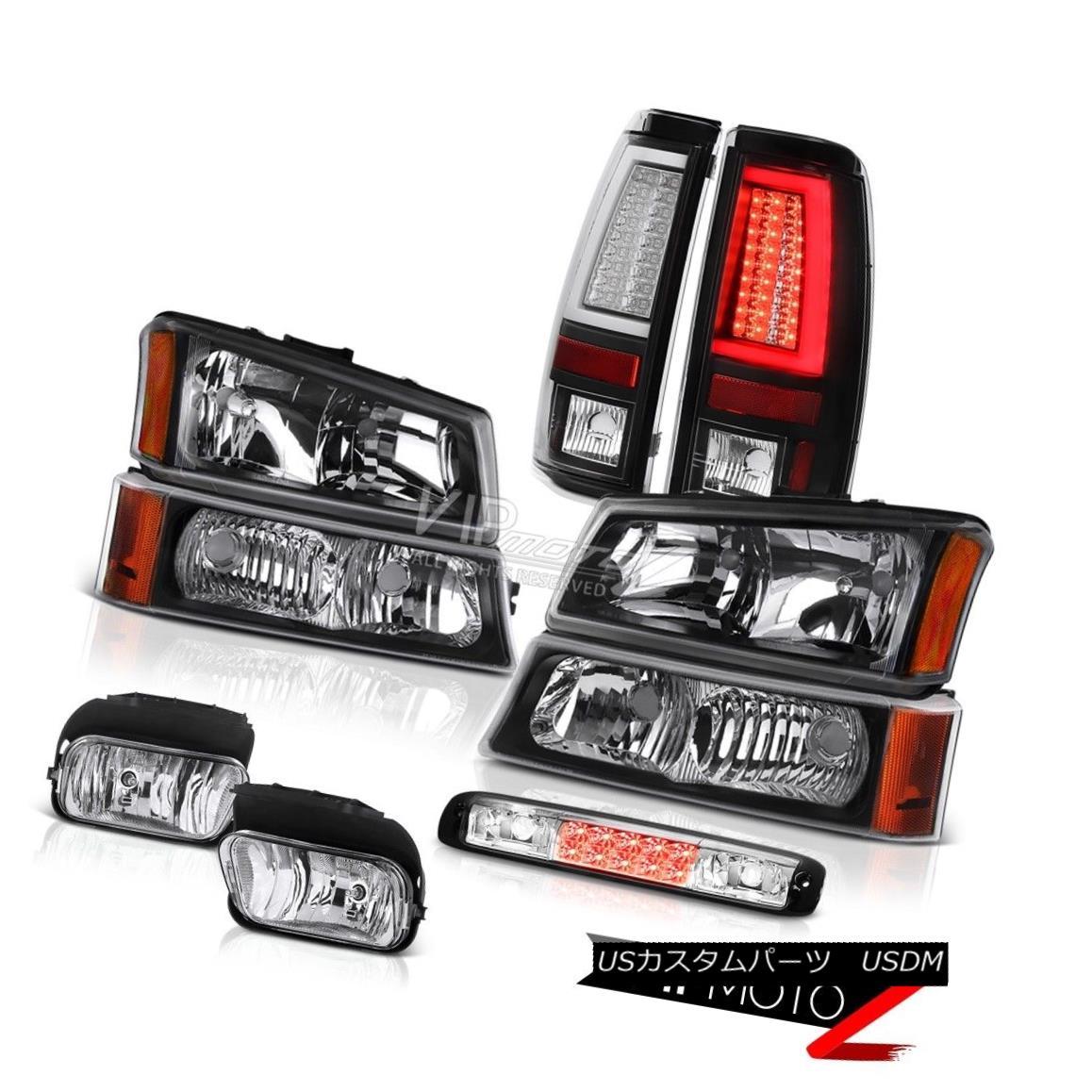 ヘッドライト 03-06 Silverado 3500Hd Black Tail Brake Lamps Headlights Fog Lights Third Lamp 03-06 Silverado 3500Hdブラックテールブレーキランプヘッドライトフォグライト第3ランプ
