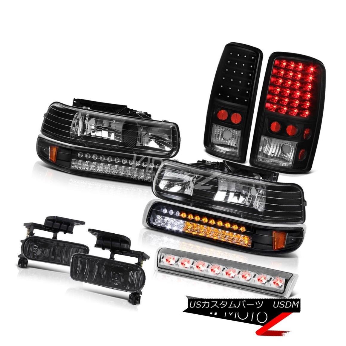 ヘッドライト 2000-2006 Tahoe 4X4 High stop light foglamps black tail lamps headlamps LED SMD 2000-2006タホ4X4ハイストップライトフォグランプブラックテールランプヘッドランプLED SMD