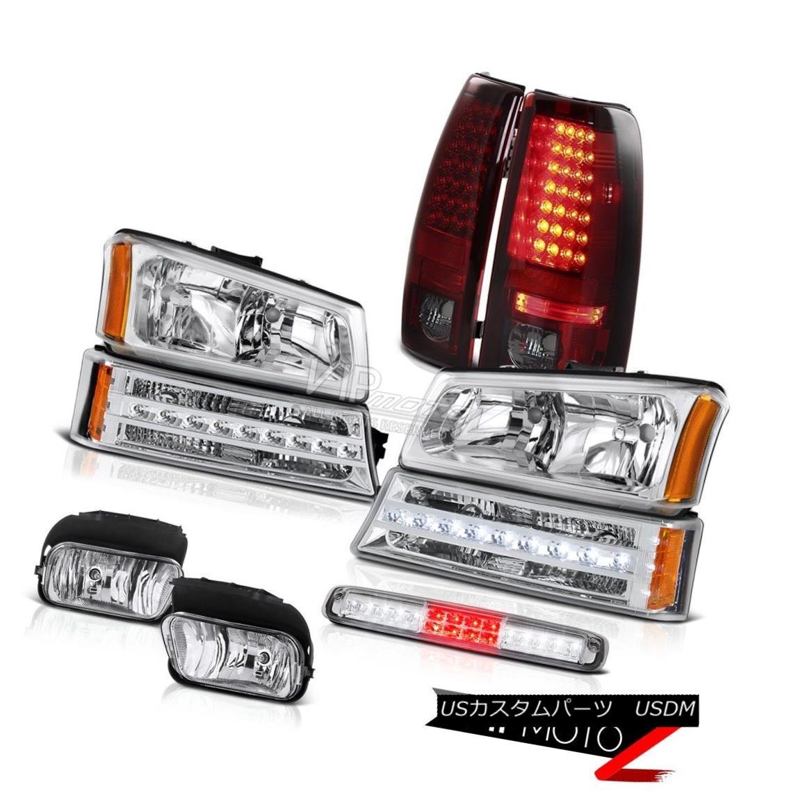 ヘッドライト 03-06 Silverado 1500 Chrome Foglamps Roof Brake Lamp Headlamps Signal Rear Lamps 03-06 Silverado 1500クロームフォグランプ屋根用ブレーキランプヘッドランプ信号用リアランプ
