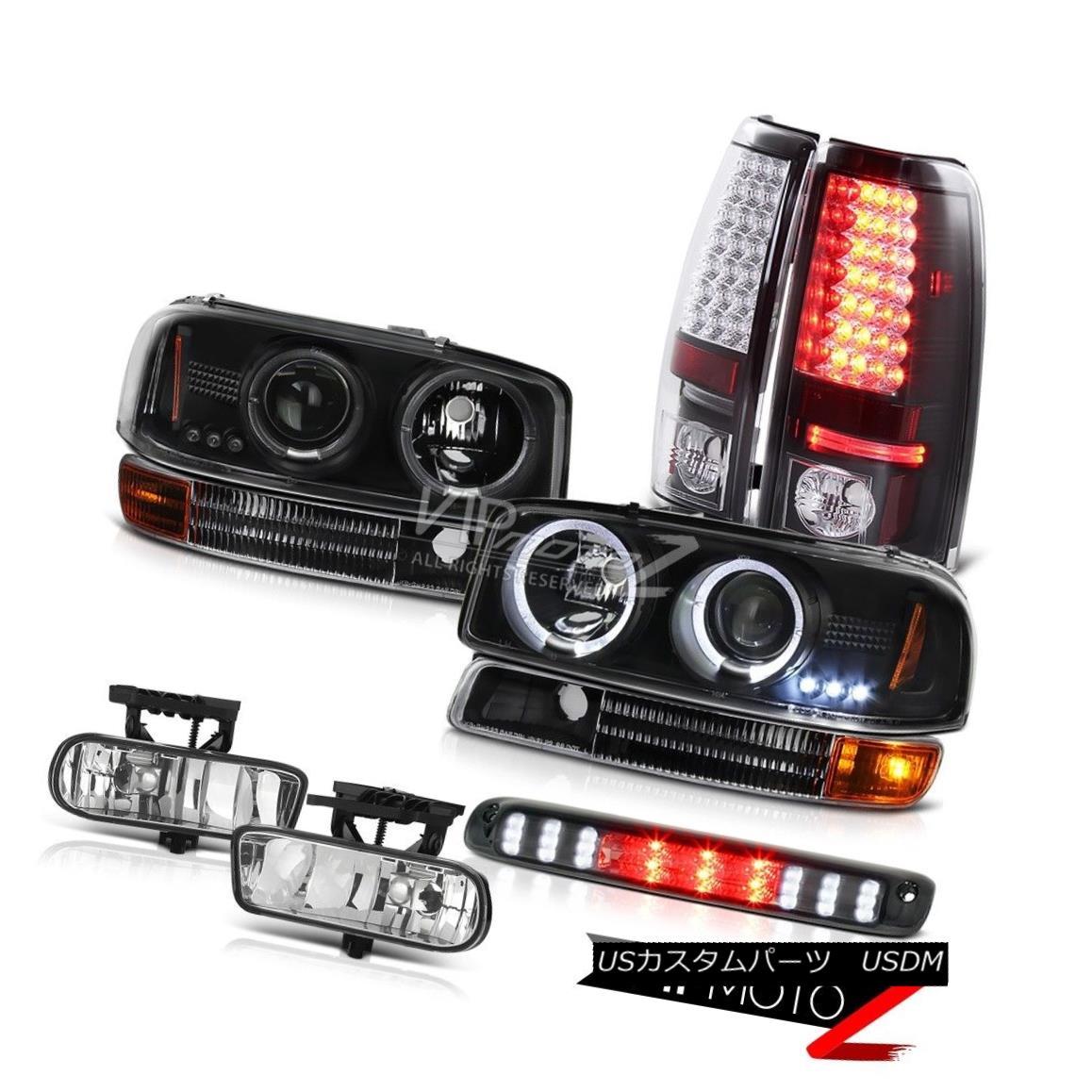 ヘッドライト 1999-2002 Sierra SLT L.E.D DRL Halo Headlights Black Bumper LED Taillamps Fog 1999-2002シエラSLT L.E.D DRLハローヘッドライトブラックバンパーLEDタイルランプフォグ