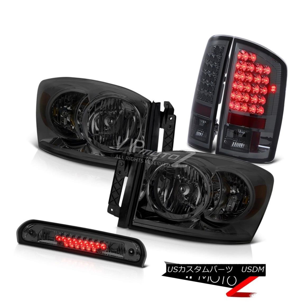 ヘッドライト Pair Smoke Headlamps LED Tail Lamps High Brake Cargo 2007-2008 Ram Dodge 1500 ST ペアの煙ヘッドランプLEDテールランプハイブレーキ貨物2007-2008 Ram Dodge 1500 ST