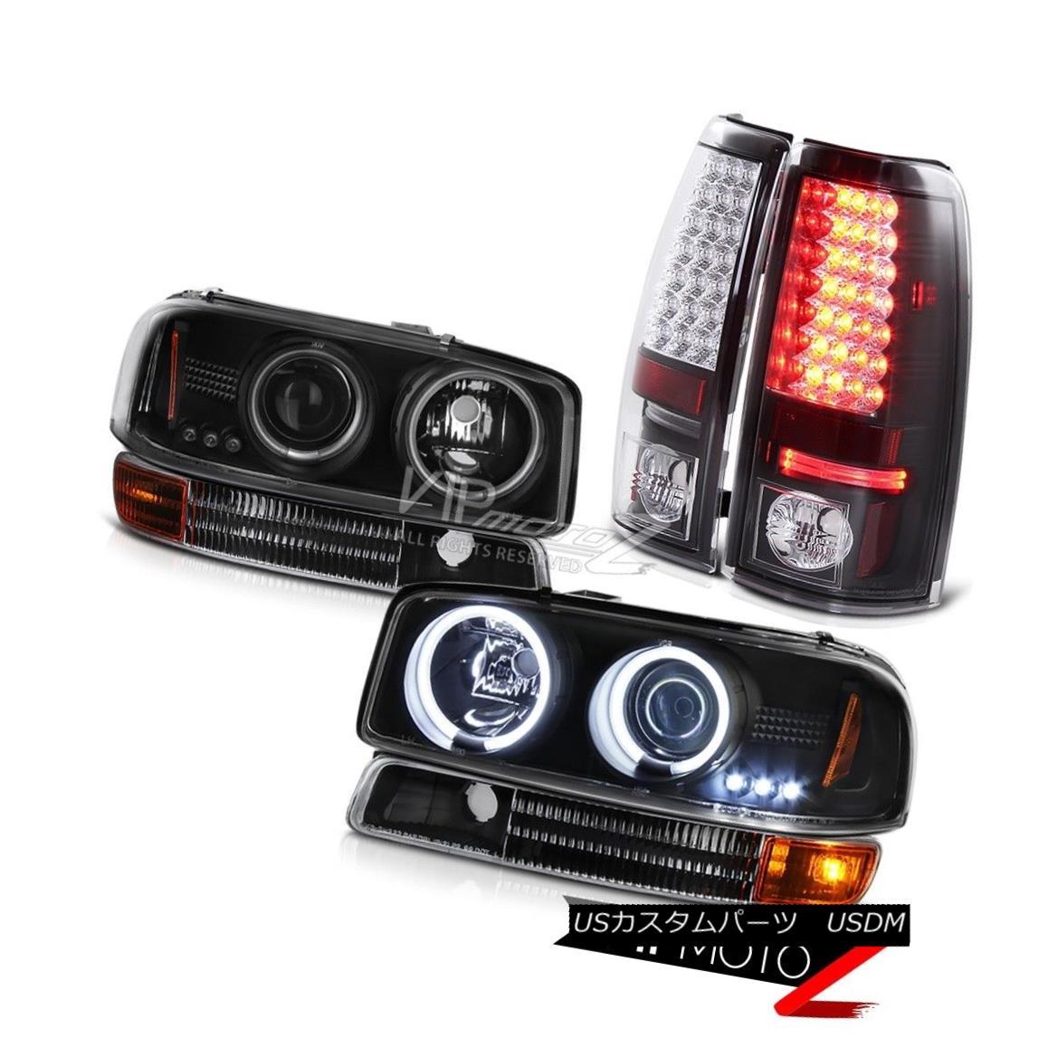 ヘッドライト 1999-2003 Sierra SLE Angel Eye CCFL Headlamps Bumper LED SMD Tail Light Assembly 1999-2003シエラSLEエンジェルアイCCFLヘッドランプバンパーLED SMDテールライトアセンブリ