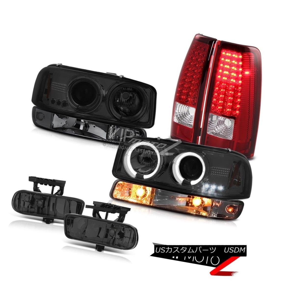 ヘッドライト 1999-2002 Sierra SL Foglamps bloody red led tail lights parking light headlamps 1999-2002 Sierra SL Foglampsピエロトレッドテールライトパーキングライトヘッドランプ
