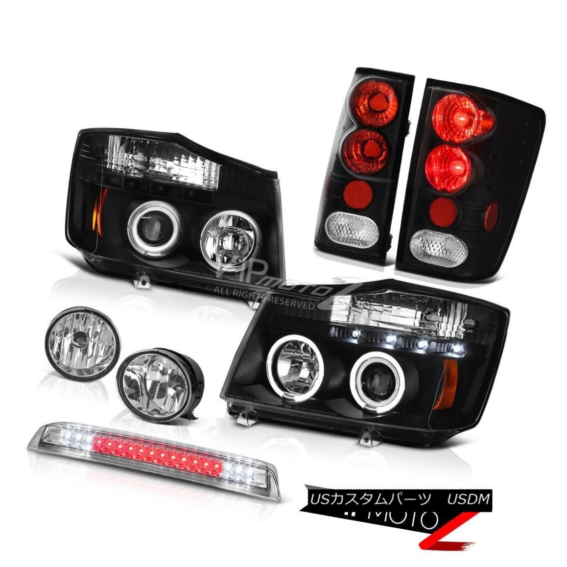 ヘッドライト Projector Headlights Tail Light Fog 3rd Brake Cargo LED For 2004-2015 Titan SL プロジェクターヘッドライトテールライトフォグ2004年?2015年の第3ブレーキカーゴLEDタイタンSL