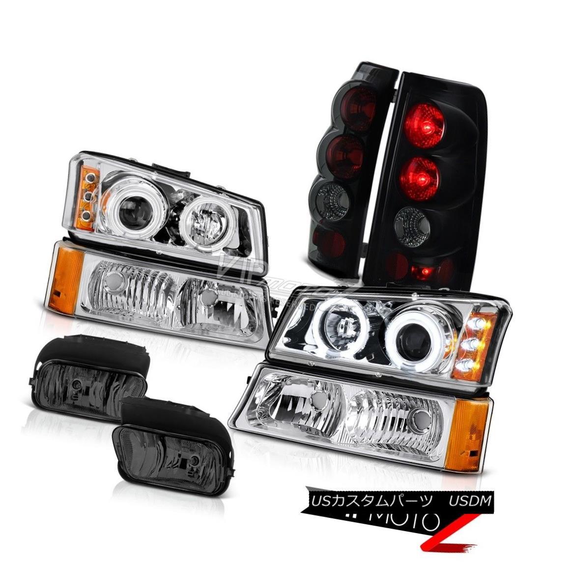 ヘッドライト 03-06 Chevy Silverado Projector Headlight CCFL Halo Sinister Brake Lamp Foglamps 03-06 Chevy SilveradoプロジェクターヘッドライトCCFL Halo Sinisterブレーキランプフォグランプ
