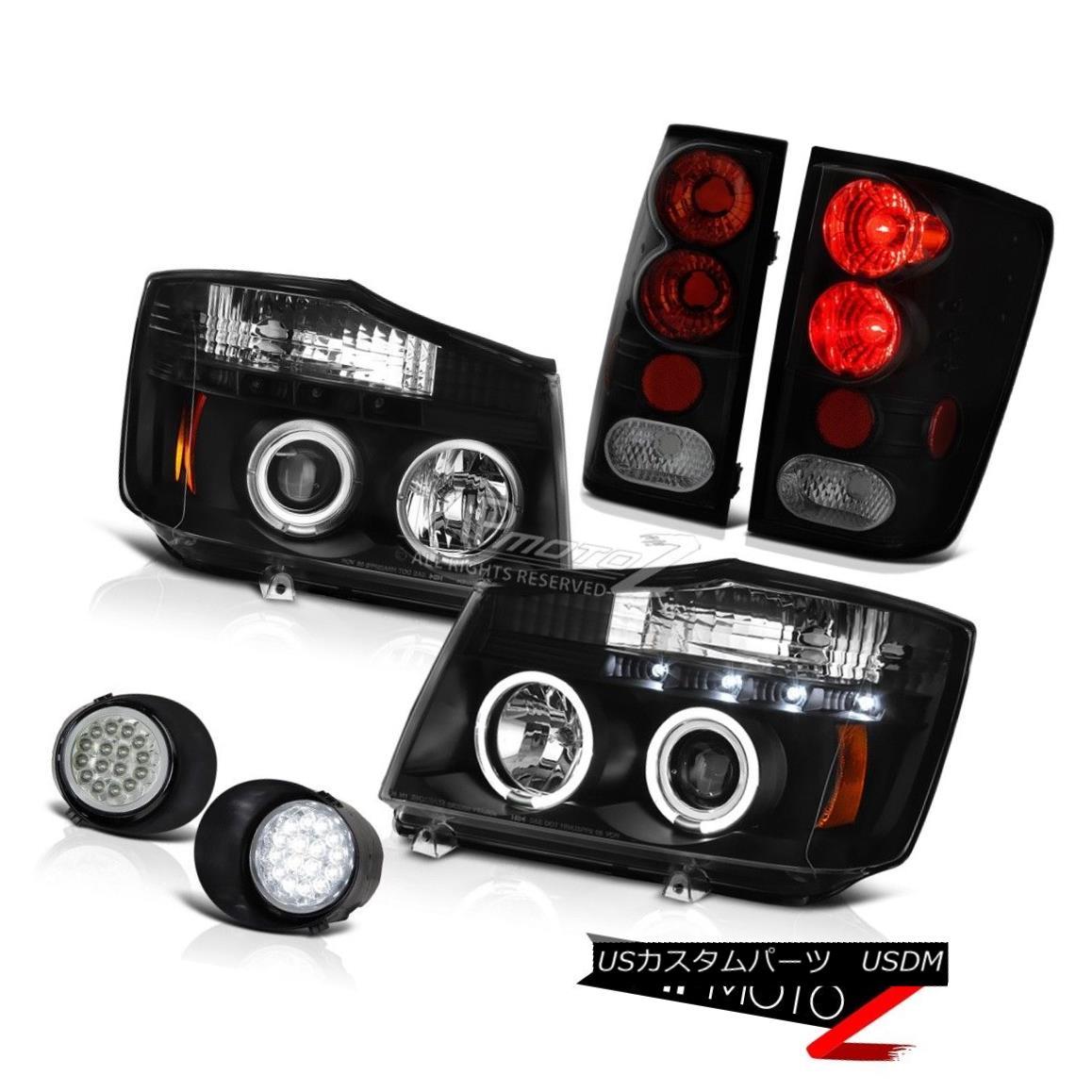 ヘッドライト For 04 05 06 07 Titan Headlight Tail Lights Sinister Black Brake Lights LED Fog 04 05 06 07タイタンヘッドライトテールライト不快なブラックブレーキライトLEDフォグ
