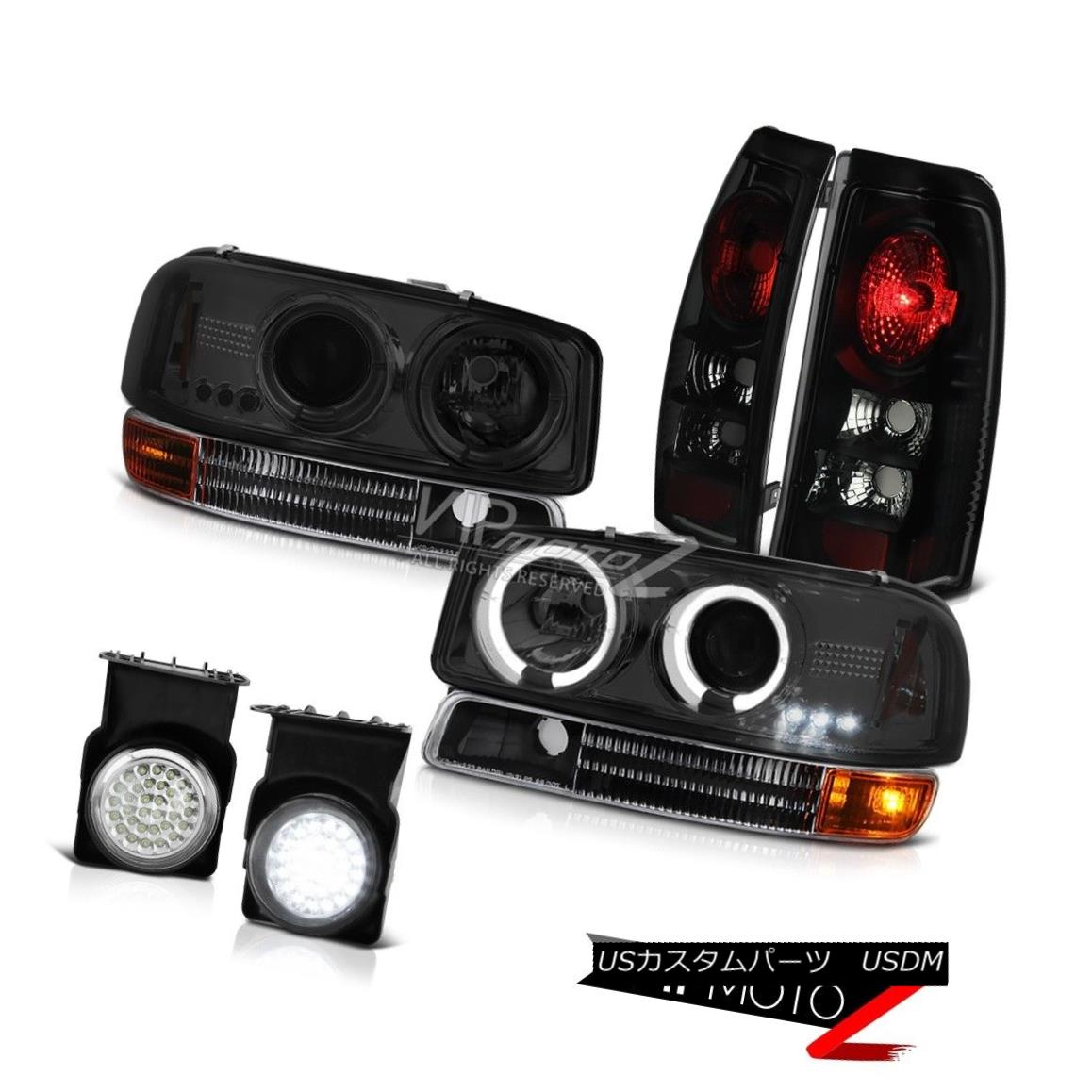 ヘッドライト Halo Headlights Black Parking Brake TailLamps Wiring LED Fog 2003 Sierra 6.0L V8 Haloヘッドライトブラック駐車ブレーキTailLamps LED Fog 2003 Sierra 6.0L V8