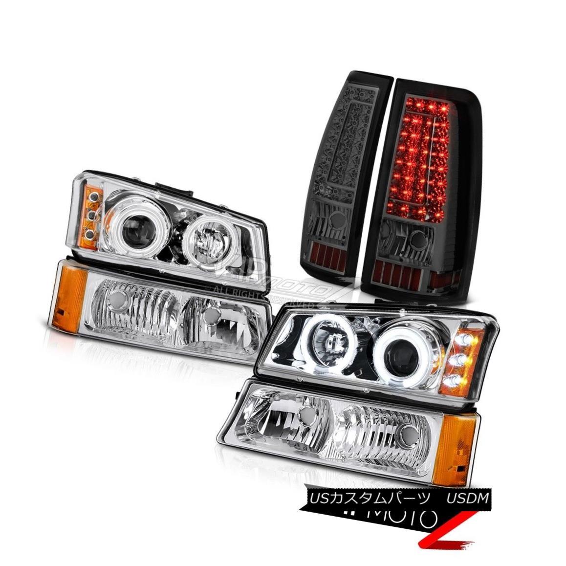 ヘッドライト 03-06 Silverado 3500Hd Chrome Signal Lamp Smoked Tail Brake Lights Headlights 03-06 Silverado 3500Hdクローム信号ランプスモークテールブレーキライトヘッドライト