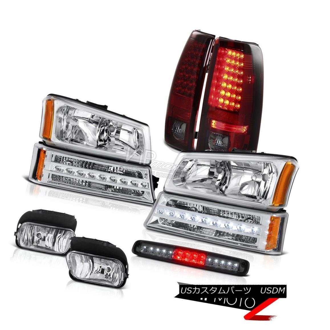 ヘッドライト 03-06 Silverado 2500Hd Foglights 3RD Brake Light Headlights Signal Rear Lights 03-06 Silverado 2500Hdフォグライト3RDブレーキライトヘッドライトシグナルリアライト