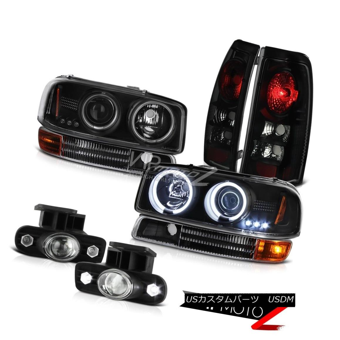 ヘッドライト CCFL Halo Headlights Signal Tail Lamps Projector Foglamp 1999-2003 Sierra 2500HD CCFL Haloヘッドライト信号テールランププロジェクターフォグライト1999-2003 Sierra 2500HD