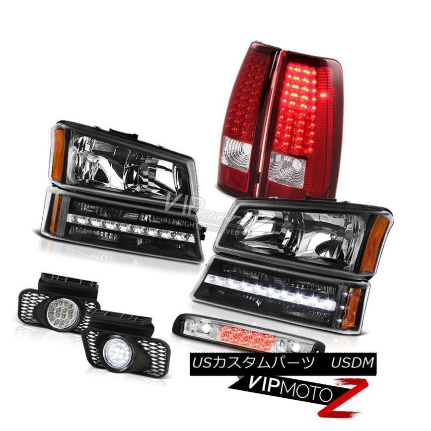 ヘッドライト 03-06 Chevy Silverado Roof Brake Light Headlamps Foglights Bumper Taillamps Drl 03-06 Chevy SilveradoルーフブレーキライトヘッドランプフォグライトバンパータイルランプDrl