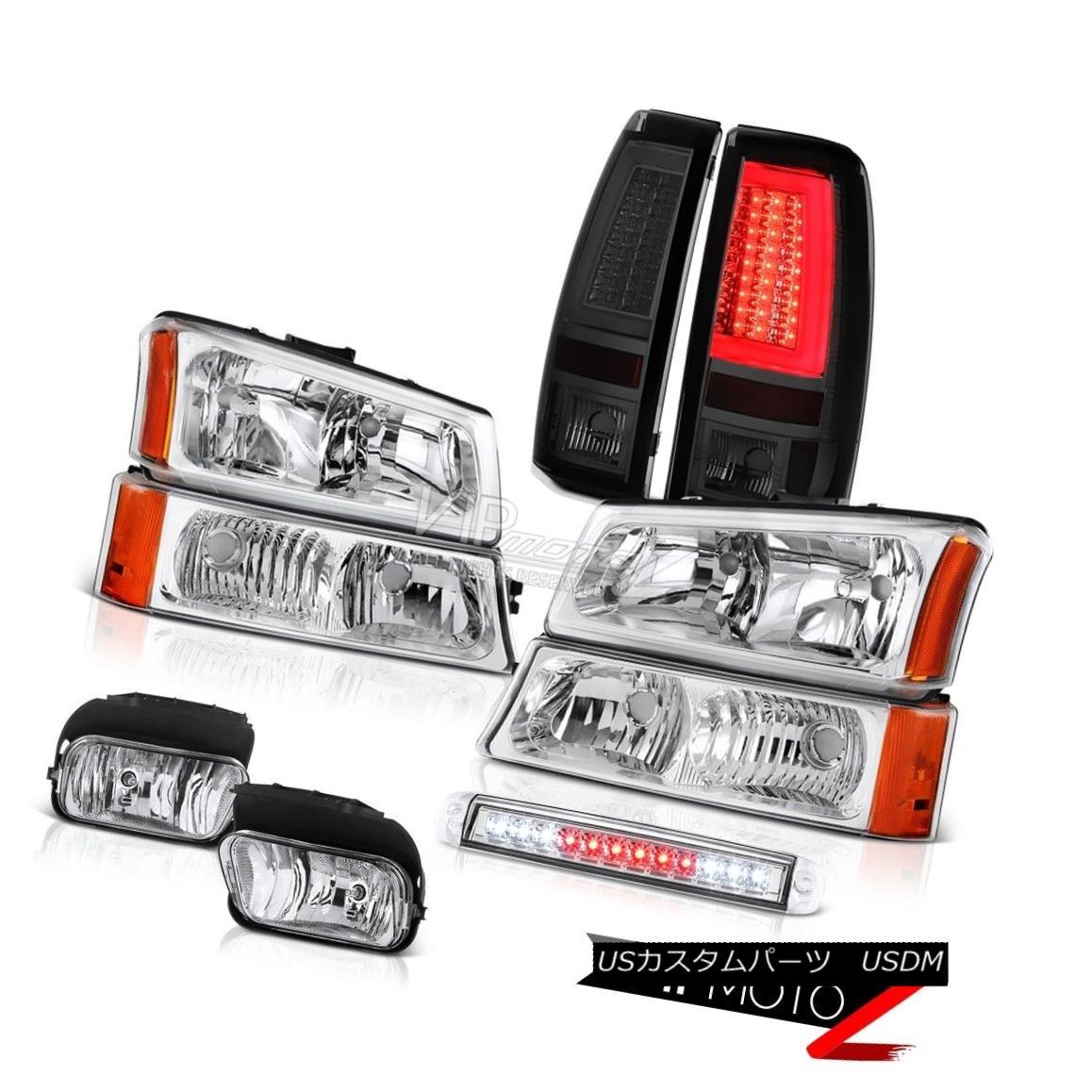 ヘッドライト 03 04 05 06 Silverado Tail Lights High Stop Lamp Headlights Foglights Tron Style 03 04 05 06シルバラードテールライトハイストップランプヘッドライトフォグライトトロンスタイル