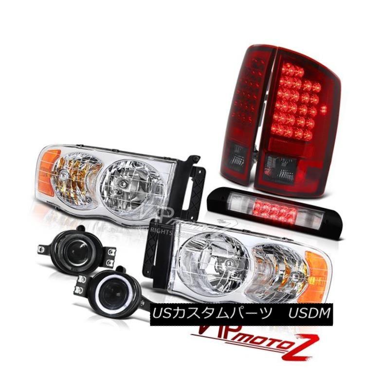 ヘッドライト Crystal Clear Headlight LED Taillight Smoke Fog Roof 02 03 04 05 Ram TurboDiesel クリスタルクリアヘッドライトLEDテールライトスモークフォグ屋根02 03 04 05 Ram TurboDiesel