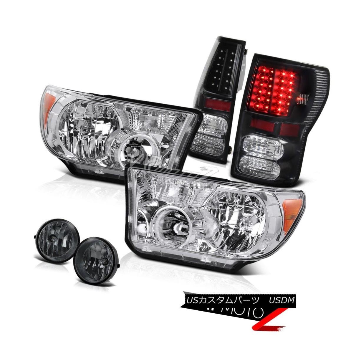 ヘッドライト Crystal L+R Replacement Headlamp+Led Tail Light+Fog Lamp Tundra 07-13 クリスタルL + R交換ヘッドランプ+ Ledテールライト+フォグランプTundra 07-13