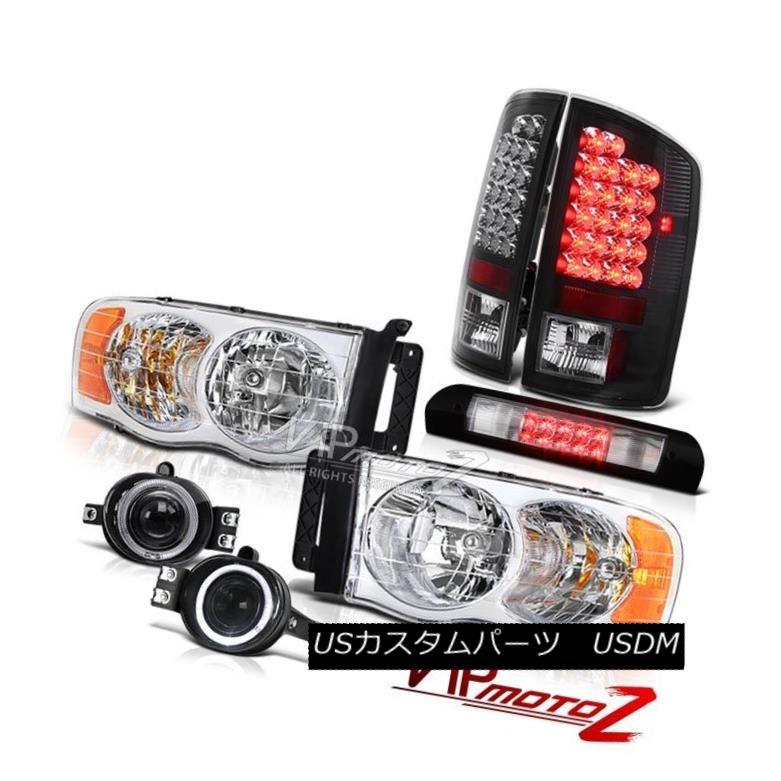 ヘッドライト Factory Style Headlight Black Taillight Foglight High Stop 02 03 04 05 Ram Turbo ファクトリーヘッドライトブラックテールライトFoglightハイストップ02 03 04 05ラムターボ