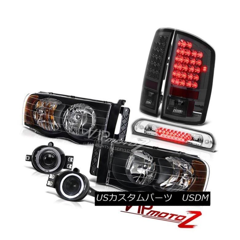 ヘッドライト 02-05 Ram Hemi Black Headlamps Smoke LED Taillamps Projector Euro Fog Chrome 3rd 02-05 Ram Hemi BlackヘッドランプSmoke LED TaillampsプロジェクターEuro Fog Chrome 3rd