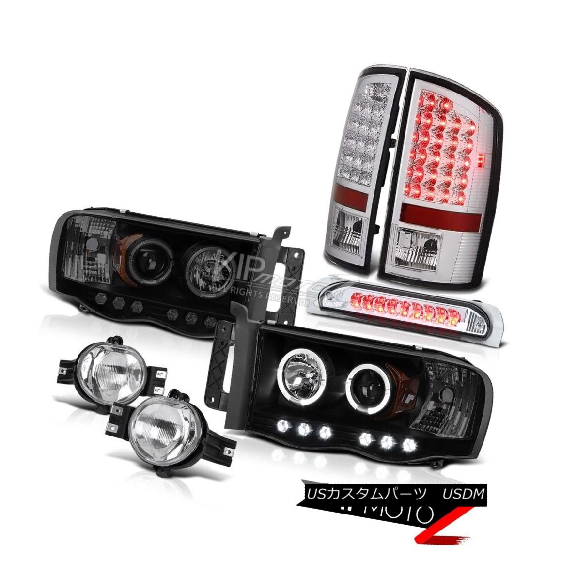 ヘッドライト 02-05 Ram Smoke Halo Rim Headlight SMD Tail Light Bumper Fog High Brake Lamp LED 02-05 Ram Smoke Halo RimヘッドライトSMDテールライトバンパーフォグハイブレーキランプLED