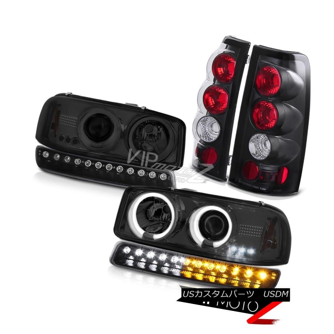ヘッドライト 99-02 Sierra WT Matte black tail lights turn signal ccfl projector headlights 99-02シエラWTマットブラックテールライトターンシグナルccflプロジェクターヘッドライト