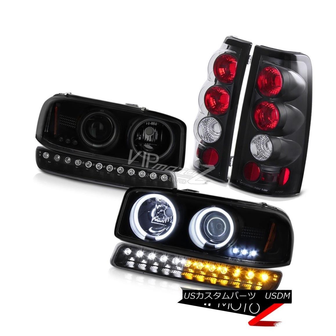 ヘッドライト 99 00 01 02 GMC Sierra Nighthawk black tail lamps signal lamp ccfl headlamps 99 00 01 02 GMC Sierra Nighthawkブラックテールランプ信号ランプccflヘッドランプ