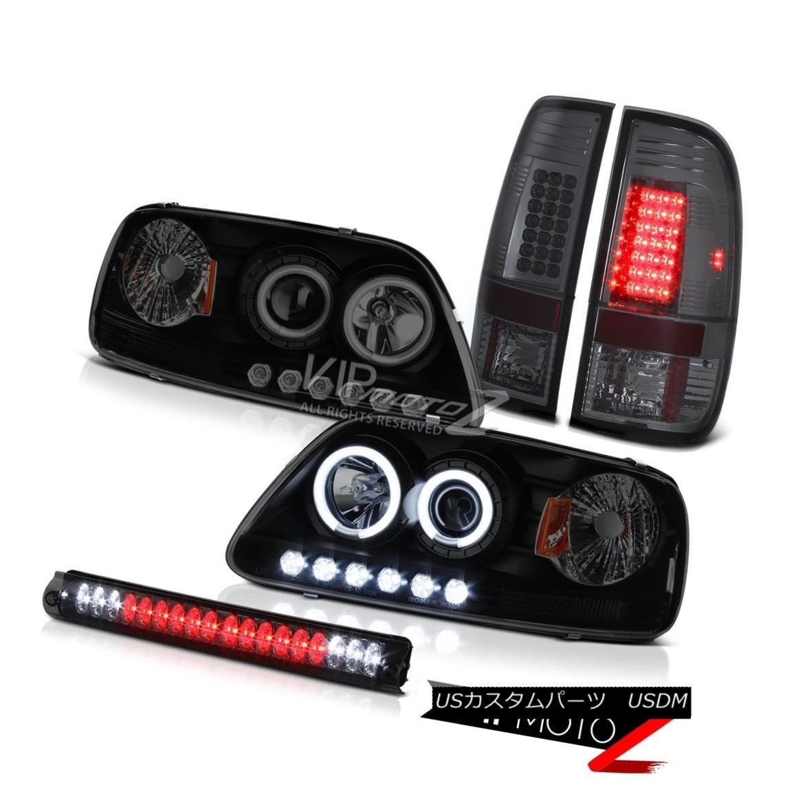 ヘッドライト CCFL Smoke Angel Eye 97-2003 F150 Hertiage Signal Brake Tail Light Lamp LED Tint CCFLスモークエンジェルアイ97-2003 F150ヘリテージシグナルブレーキテールライトランプLEDティント