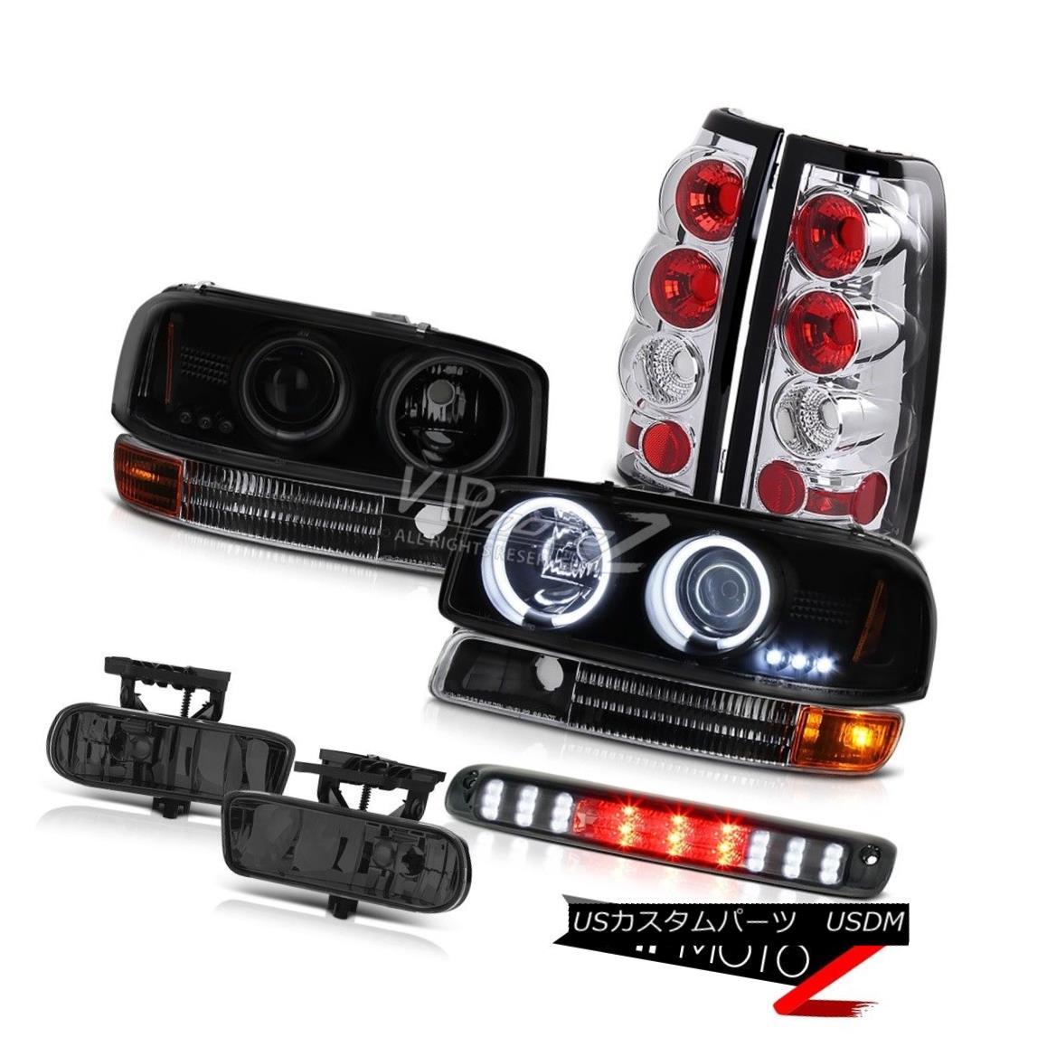 ヘッドライト 1999-2002 GMC GMT800 CCFL Angel Eye Headlights Signal Euro Taillights Tinted Fog 1999-2002 GMC GMT800 CCFLエンジェルアイヘッドライトシグナルユーロティールライトティンテッドフォグ
