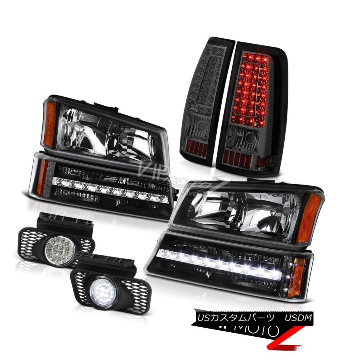 ヘッドライト 03 04 05 06 Silverado 2500Hd Foglamps Smokey Tail Lights Bumper Lamp Headlights 03 04 05 06 Silverado 2500Hdフォグランプスモークテールライトバンパーランプヘッドライト