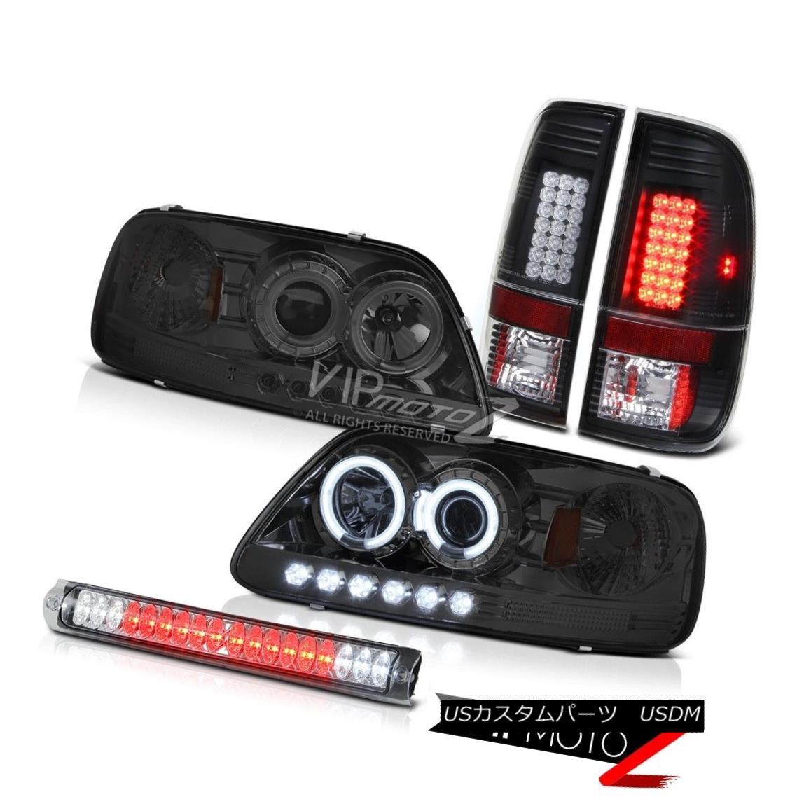 ヘッドライト CCFL Angel Eye Headlight LED Black Tail Lights Roof Brake Lamp Chrome F150 97-03 CCFLエンジェルアイヘッドライトLEDブラックテールライトルーフブレーキランプクロームF150 97-03