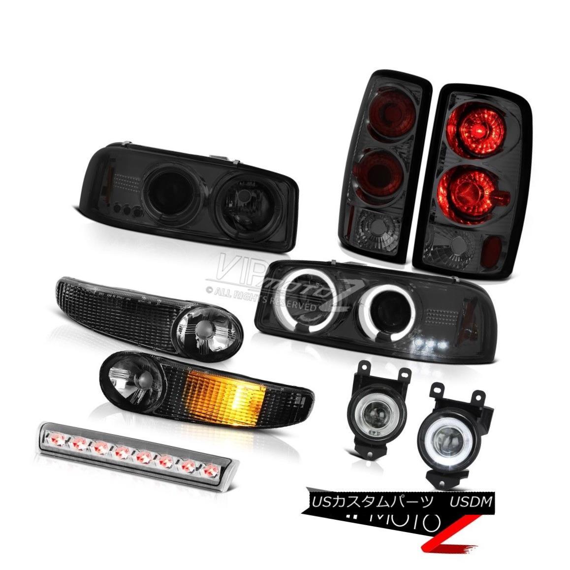 ヘッドライト Halo LED Projector Headlights Bumper Altezza Tail Lights FogLamp 01-06 GMC Yukon Halo LEDプロジェクターヘッドライトバンパーAltezza Tail Lights FogLamp 01-06 GMC Yukon