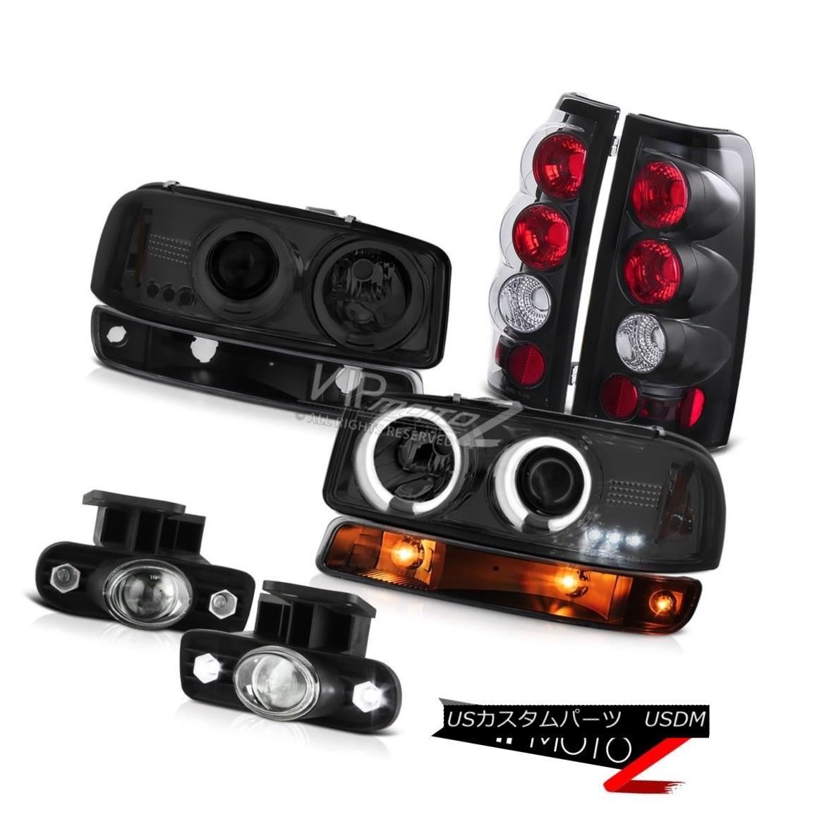 ヘッドライト 99-02 Sierra 6.0L Foglamps taillamps parking lamp titanium smoke ccfl headlamps 99-02 Sierra 6.0L Foglampsテールランプパーキングランプチタン煙ccflヘッドライト