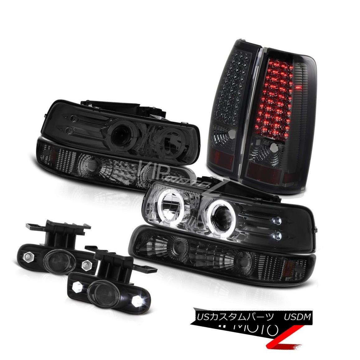 ヘッドライト 99 00 01 02 Silverado WT Headlight Halo Smoke Bumper Signal Taillights LED Fog 99 00 01 02 Silverado WTヘッドライトHalo Smokeバンパーシグナル・テールライトLED Fog