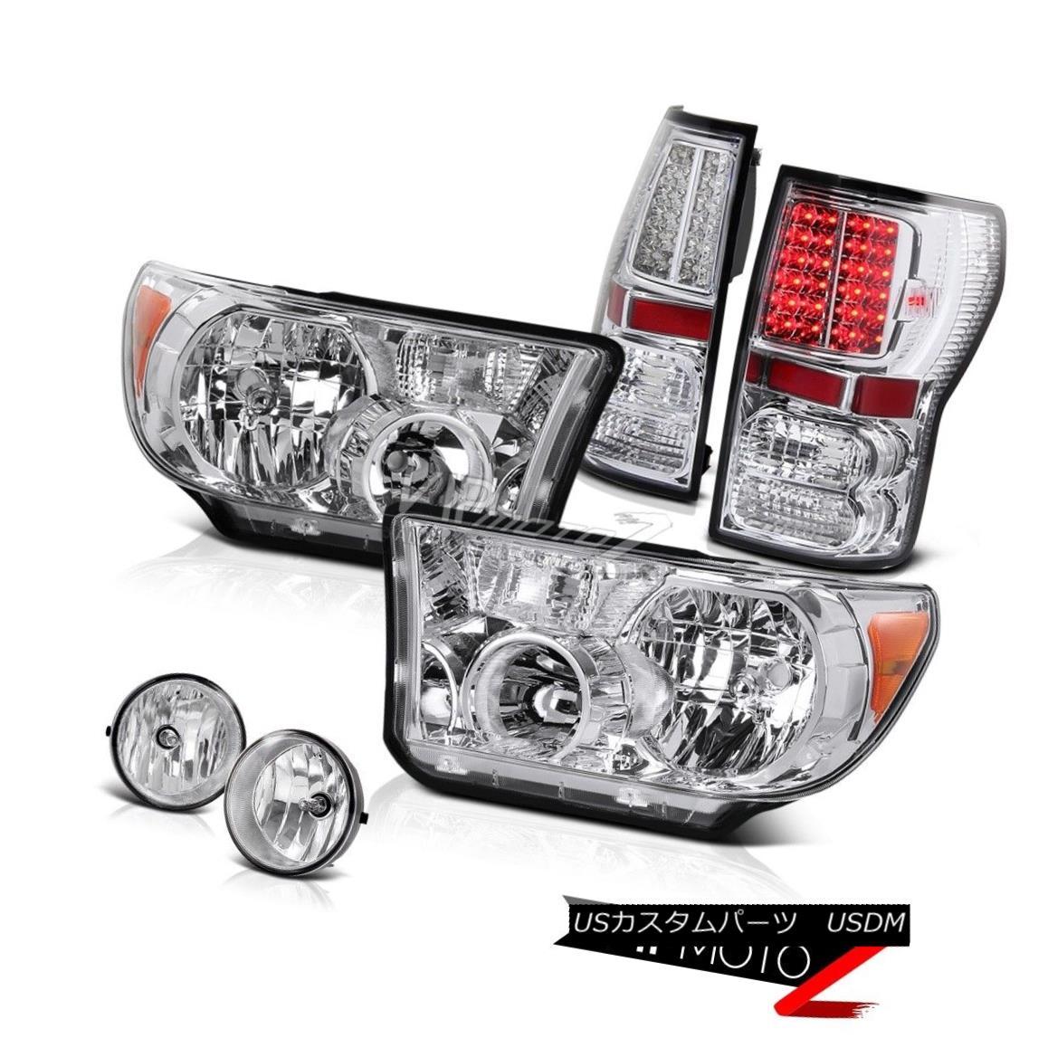 ヘッドライト Crystal Clear L+R Headlamp+Led Tail Light+Fog Lamp Toyota Tundra 07-13 クリスタルクリアL + Rヘッドライト+ Ledテールライト+フォグランターToyota Tundra 07-13