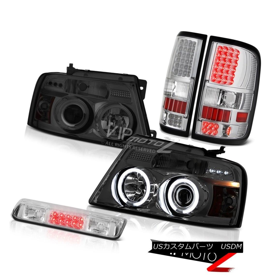 ヘッドライト 04-08 Ford F150 XL Roof Brake Lamp Tail Lamps Phantom Smoke Headlamps LED Cool 04-08 Ford F150 XL屋根のブレーキランプテールランプファントムスモークヘッドランプLED Cool