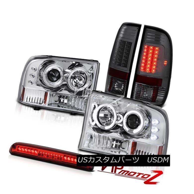 ヘッドライト 99 00 01 02 03 04 F250 XLT Projector Headlight Smoke LED Tail Light Brake Red 99 00 01 02 03 04 F250 XLTプロジェクターヘッドライトスモークLEDテールライトブレーキレッド