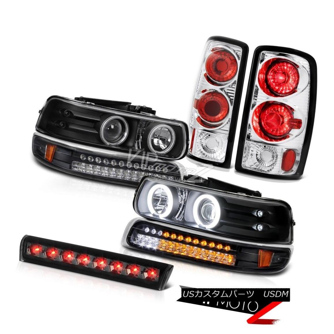 ヘッドライト 2000-2006 Suburban 5.7L Black CCFL Headlights SMD Rear 3rd Brake Stop LED Smoke 2000-2006郊外5.7LブラックCCFLヘッドライトSMDリア第3ブレーキストップLEDスモーク