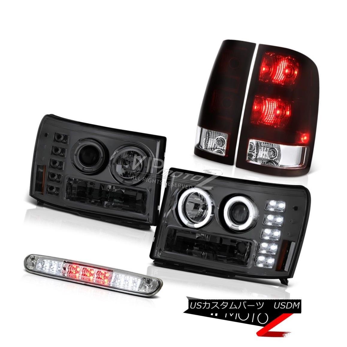 ヘッドライト 07-13 GMC Sierra 1500 SL Taillamps Headlights High Stop Light Halo Ring Halo Rim 07-13 GMC Sierra 1500 SLタイルランプヘッドライトハイストップライトHalo Ring Halo Rim