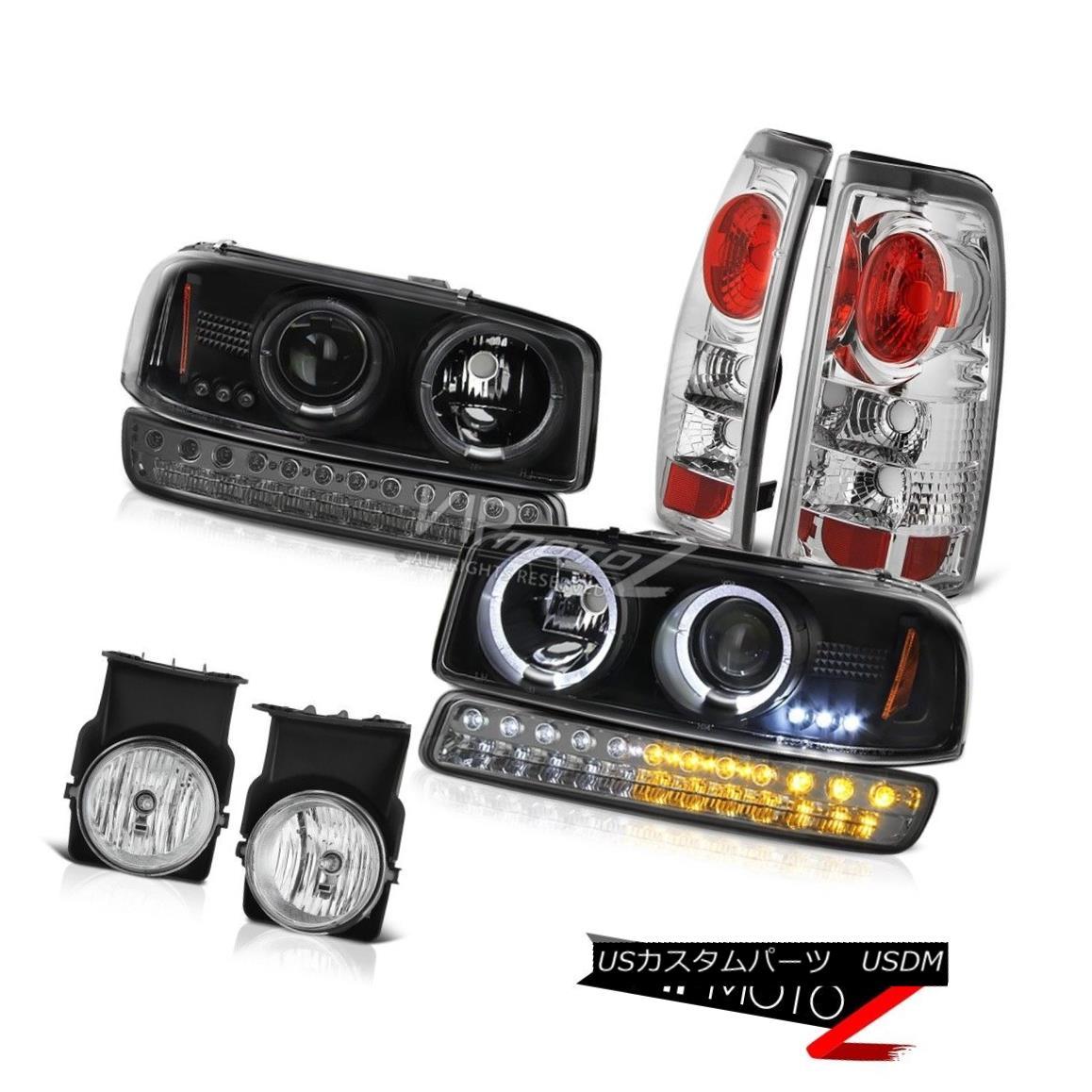 ヘッドライト 03-06 GMC Sierra Fog Lights Taillights Signal Lamp Black Projector Headlights 03-06 GMCシエラ・フォグ・ライト・テールライト信号ランプブラック・プロジェクター・ヘッドライト