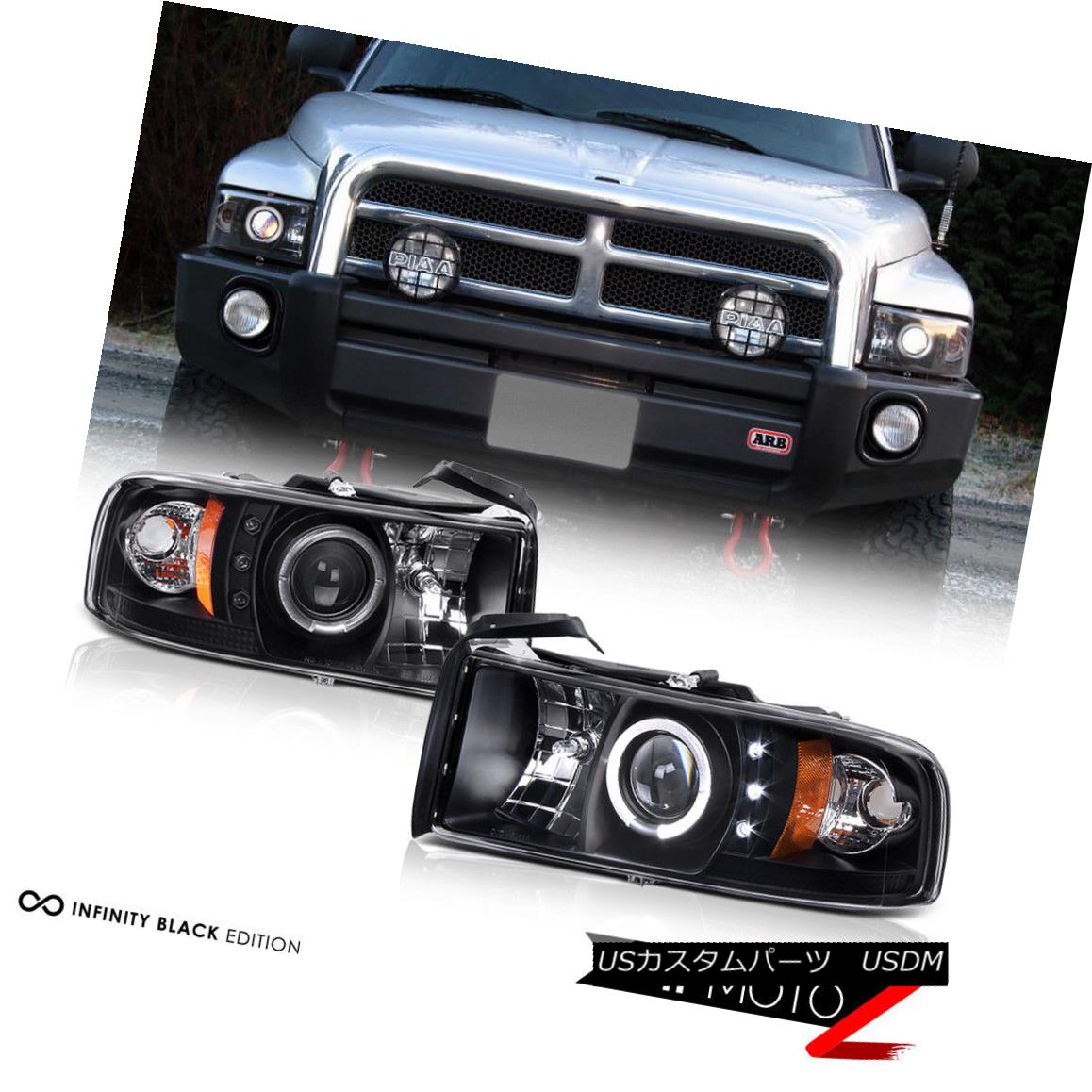 Smoked Fog 00-06 Yukon Black Halo Pro Headlights Bumper Set For 99-02 Sierra