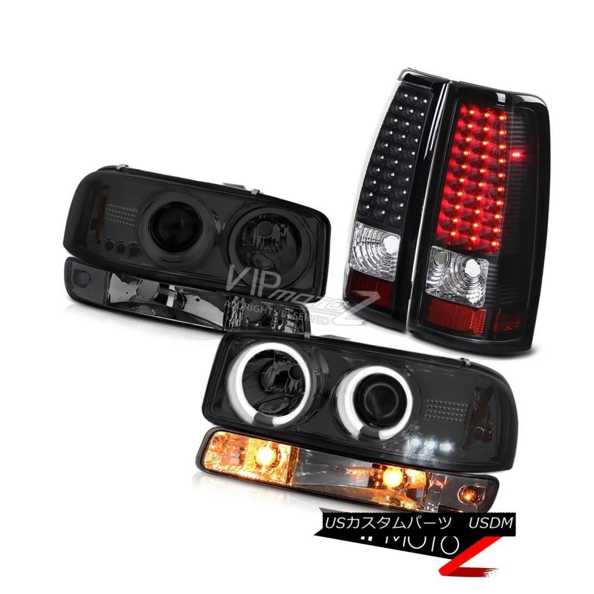 ヘッドライト 99 00 01 02 Sierra 6.0L Black led taillights smoked bumper light ccfl headlamps 99 00 01 02 Sierra 6.0L黒色のテールライトは燻製のバンパーライトccflヘッドライト