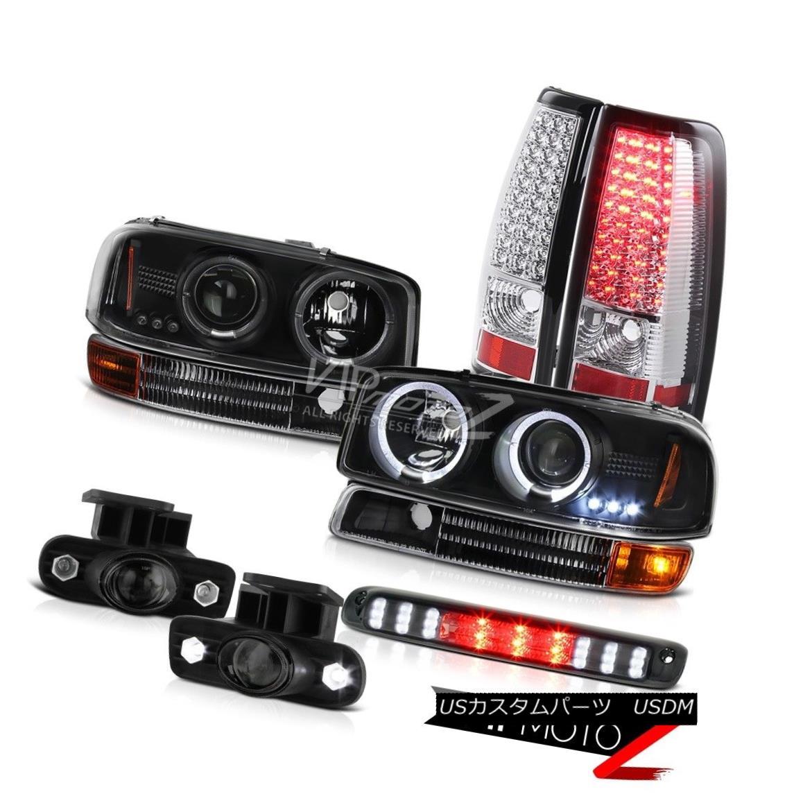 ヘッドライト 99 00 01 02 Sierra 3500HD L.E.D DRL Halo Headlight Bumper LED Taillamp Smoke Fog 99 00 01 02 Sierra 3500HD L.E.D DRLハローヘッドライトバンパーLEDタイルランプスモークフォグ