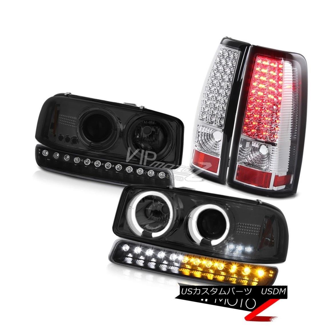 ヘッドライト 99 00 01 02 Sierra 4.3L Chrome smd tail brake lamps signal light headlamps LED 99 00 01 02シエラ4.3Lクロムsmdテールブレーキランプ信号ライトヘッドランプLED