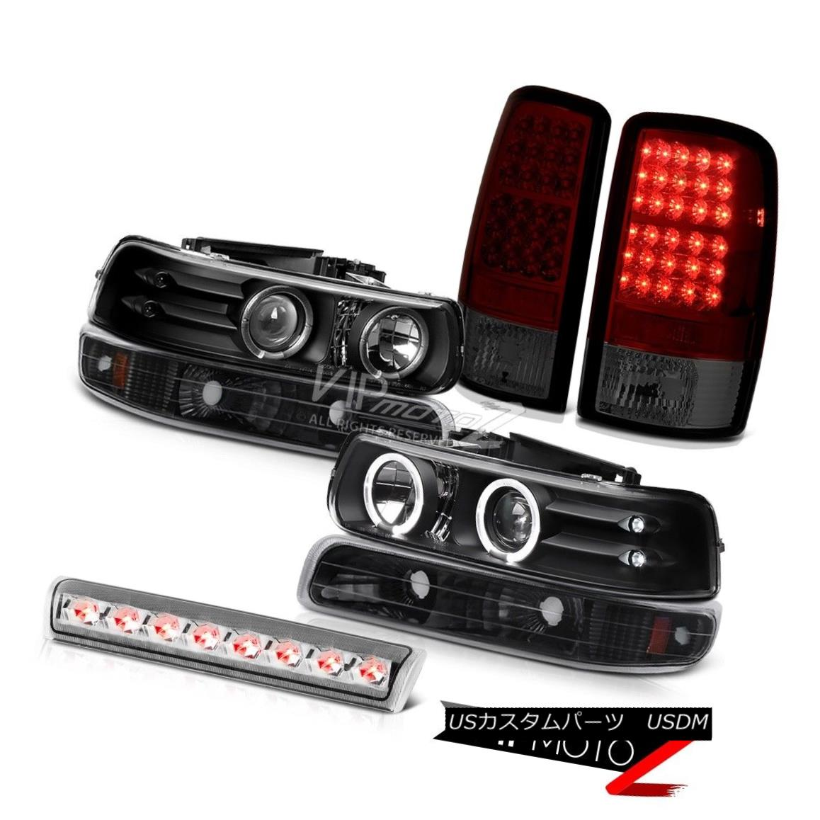 ヘッドライト LED Projector Headlights Inky Black Bumper Rear Tail Lights Cargo 00-06 Tahoe LS LEDプロジェクターヘッドライトInky Black Bumperリアテールライトカーゴ00-06 Tahoe LS