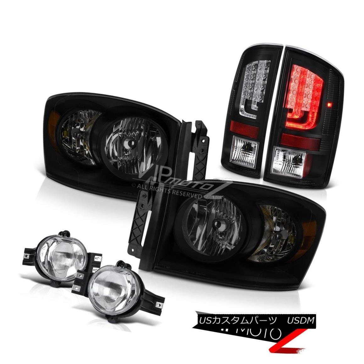 ヘッドライト 2006 Ram SRT-10 Matte Black Tail Lights SiniSTer Headlamps Fog Lamps Oe STyle 2006 Ram SRT-10マットブラックテールライトSiniSTerヘッドランプフォグランプOe STyle