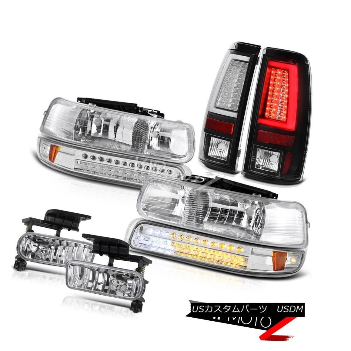 ヘッドライト 1999-2002 Silverado 3500 Taillights Clear Chrome Headlamps Signal Lamp Foglights 1999-2002 Silverado 3500テールライトクリアクロームヘッドランプ信号ランプフォグライト