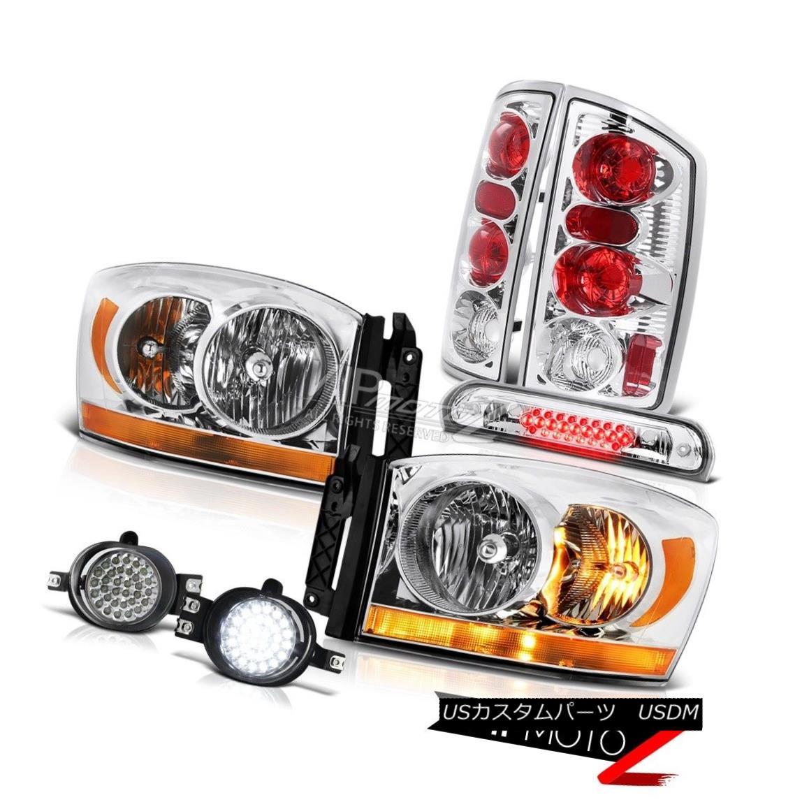ヘッドライト 2006 Ram 3500 Crystal Clear Headlights Foglamps Roof Cab Lamp Rear Brake Lights 2006 Ram 3500クリスタルクリアヘッドライトフォグランプルーフキャブランプリアブレーキライト