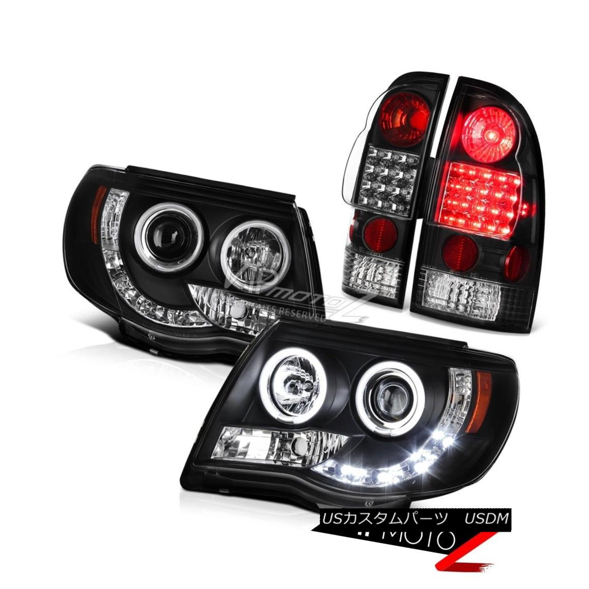 ヘッドライト 2005-2011 Toyota Tacoma 4.0L CCFL Halo LED DRL Headlights Rear Brake Tail Lights 2005-2011 Toyota Tacoma 4.0L CCFL Halo LED DRLヘッドライトリアブレーキテールライト