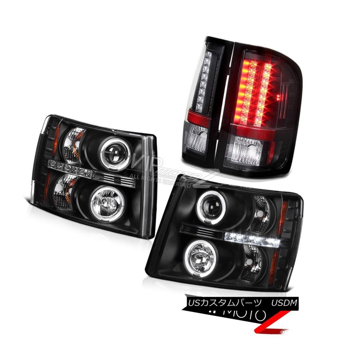 ヘッドライト 2007-2014 Silverado 1500 2500HD 3500HD Halo LED Projector Headlights Tail Lights 2007-2014 Silverado 1500 2500HD 3500HD Halo LEDプロジェクターヘッドライトテールライト