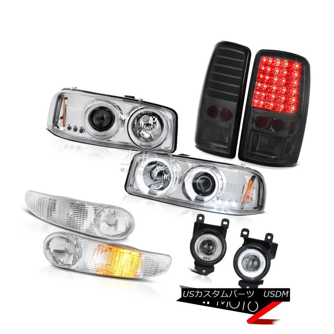 車用品 割り引き バイク用品 >> おトク パーツ ライト ランプ ヘッドライト 01-06 GMC Yukon FogLamp Bumper Projector Smoke Taillight CCFLハロープロジェクターヘッドライトバンパースモークLEDテールライトフォグランプ Halo CCFL LED Headlight